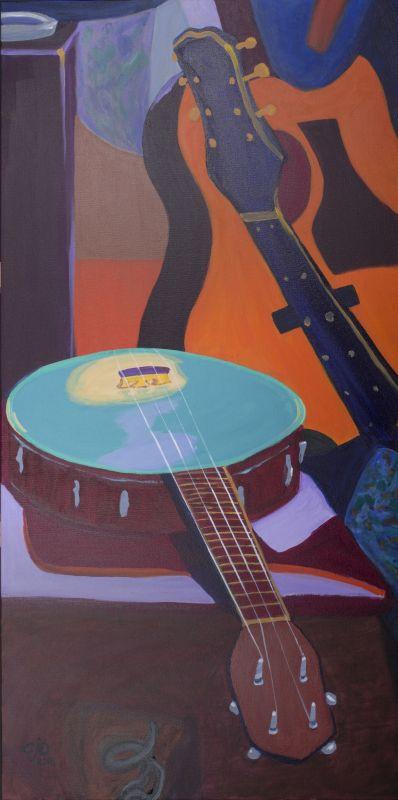 Musical instruments Skoob theme painting