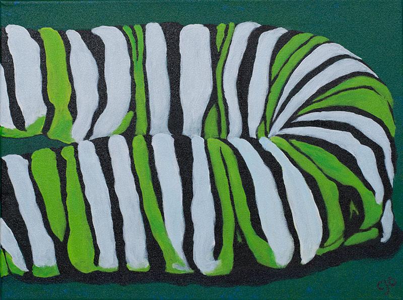 Larval stripes painting art