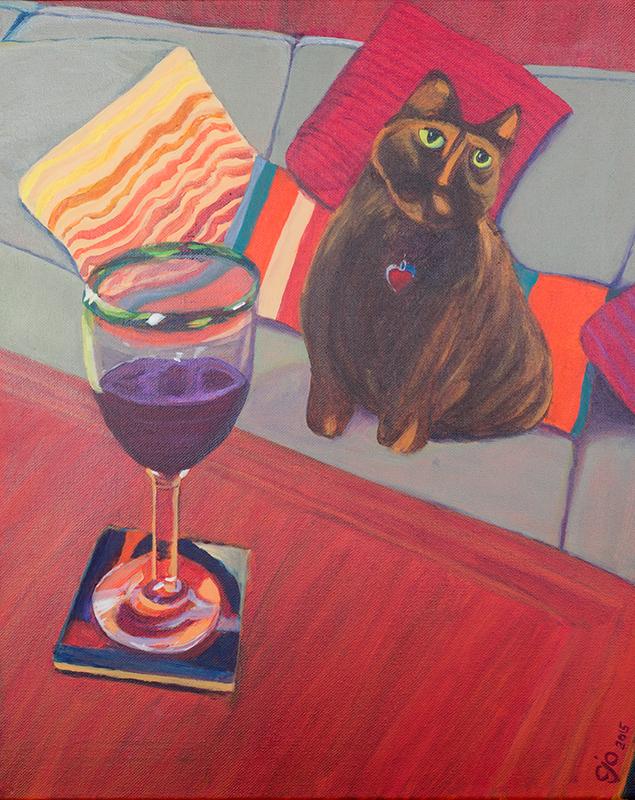 Cat painting Naomi CJO