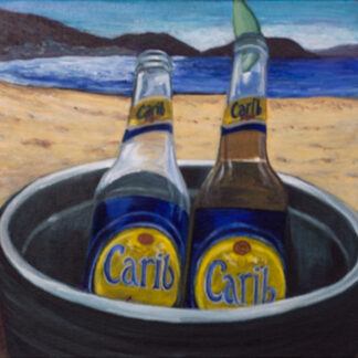 Beers at the beach painting