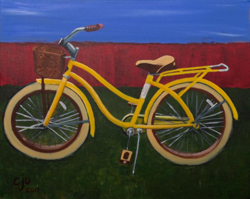 Yellow Bike painting by CJO