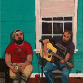 Tugboat and Dan music painting