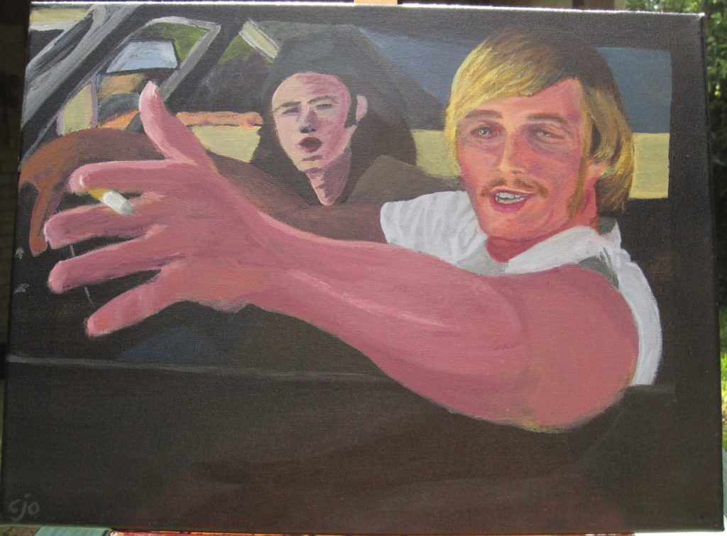 Woody painting Dazed and Confused theme