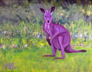 Kangaroo painting